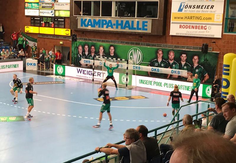 Weigert ist Sponsoring-Partner des Handball-Bundesligisten GWD Minden