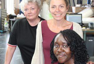 Ines Thiemann, Irina Schimpf und Misodzi Teresa Hungwe
