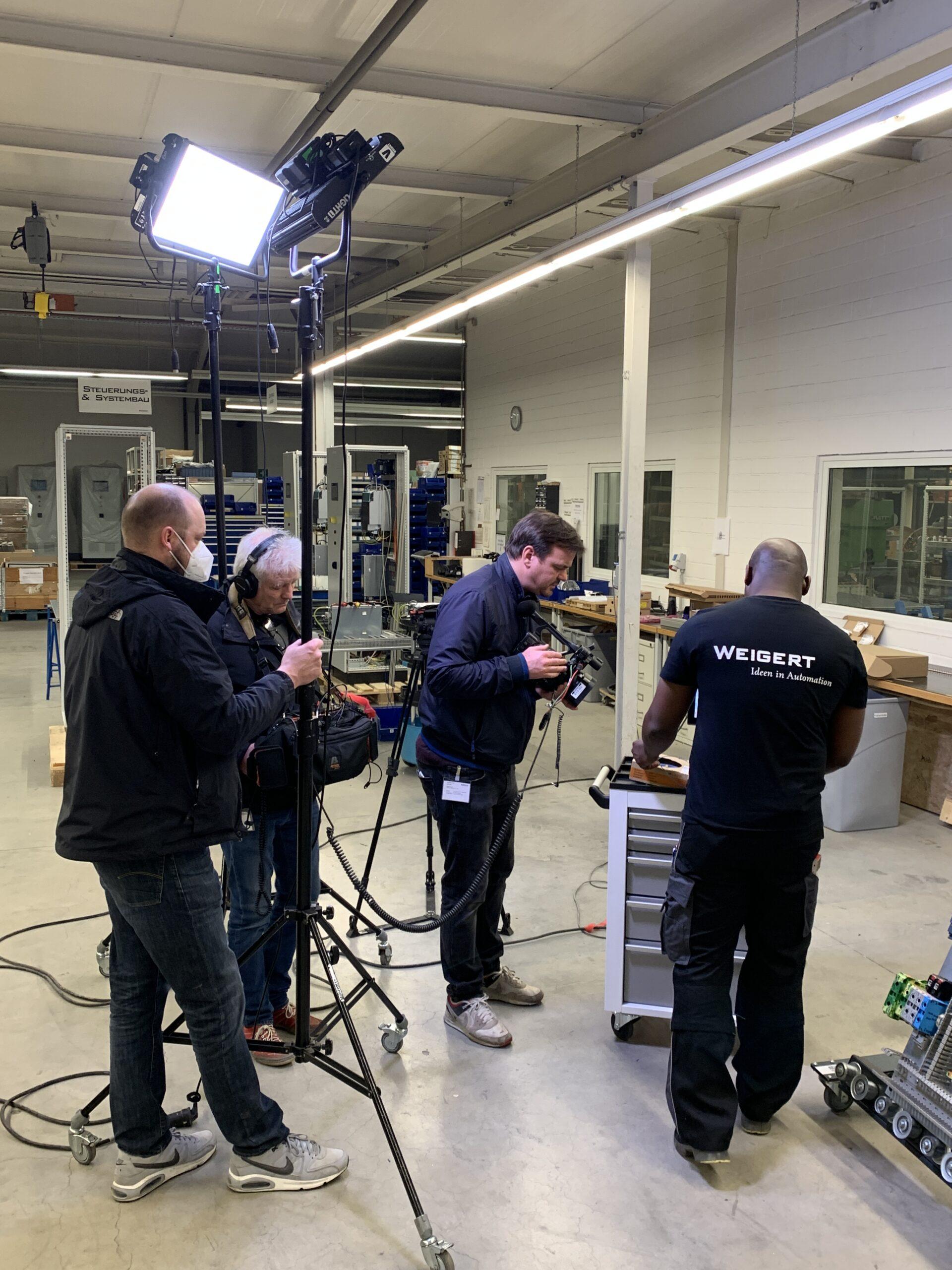 Dreharbeiten von Weigert und WAGO laufen